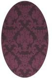 rug #514601 | oval purple damask rug