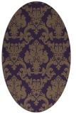 rug #514609 | oval purple damask rug