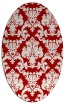 rug #514617 | oval red damask rug
