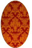 rug #514621 | oval red traditional rug