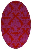 rug #514629   oval red traditional rug