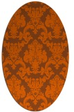 rug #514641 | oval red-orange damask rug
