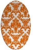 rug #514645   oval red-orange traditional rug