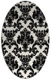 rug #514649 | oval black traditional rug