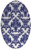 rug #514657 | oval white damask rug
