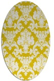rug #514677 | oval yellow rug