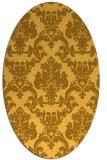 rug #514681 | oval light-orange damask rug