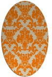 rug #514693 | oval orange damask rug