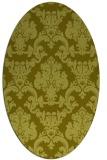 rug #514697   oval light-green damask rug