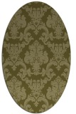 rug #514709 | oval light-green rug