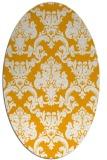 rug #514713 | oval light-orange damask rug
