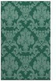 rug #514785 |  blue-green damask rug