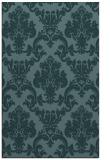 rug #514801 |  blue-green damask rug