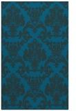 rug #514809 |  blue damask rug