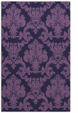 rug #514825 |  blue-violet damask rug