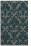 rug #514857 |  blue-green damask rug