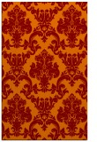 rug #514917 |  orange damask rug