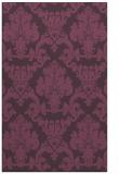 rug #514953 |  purple damask rug