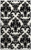 rug #515001 |  black damask rug