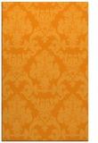rug #515073    light-orange damask rug