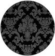 rug #515089   round black damask rug