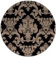 rug #515093 | round beige damask rug