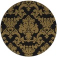 rug #515101 | round mid-brown damask rug