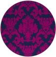 rug #515109 | round pink damask rug