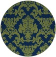 rug #515117 | round green damask rug