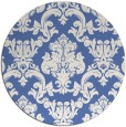 rug #515121 | round blue traditional rug