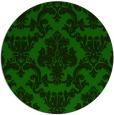 rug #515149 | round green damask rug