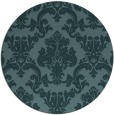 rug #515153 | round blue-green traditional rug