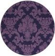 rug #515177 | round purple damask rug