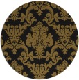 rug #515197 | round mid-brown traditional rug