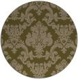 rug #515201 | round brown damask rug