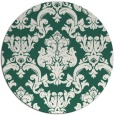 rug #515213 | round blue-green traditional rug