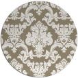 rug #515221 | round mid-brown damask rug