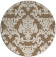 rug #515233 | round mid-brown damask rug