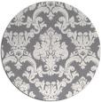 rug #515265 | round damask rug