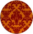 rug #515269 | round red-orange traditional rug