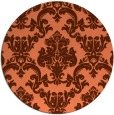 rug #515281 | round red-orange traditional rug