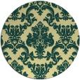 rug #515285 | round yellow traditional rug