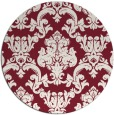rug #515293   round pink traditional rug