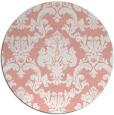 rug #515301 | round pink damask rug