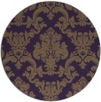 rug #515313 | round purple traditional rug
