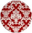 rug #515321   round red damask rug