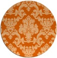 rug #515341 | round red-orange damask rug