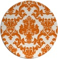 rug #515349 | round red-orange damask rug