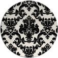 rug #515353   round white damask rug