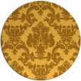 rug #515385 | round light-orange damask rug
